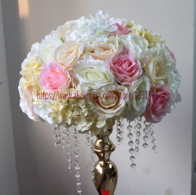 5 Sztukpartia Rose Piłka Sztuczne Kwiaty ślubne Dekoracje ślubne