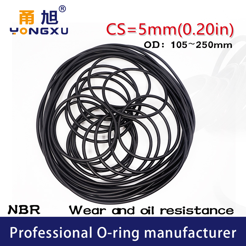 20Pcs Black Round Nitrile Butadiene Rubber NBR O-Ring 15mm OD 3.1mm Width
