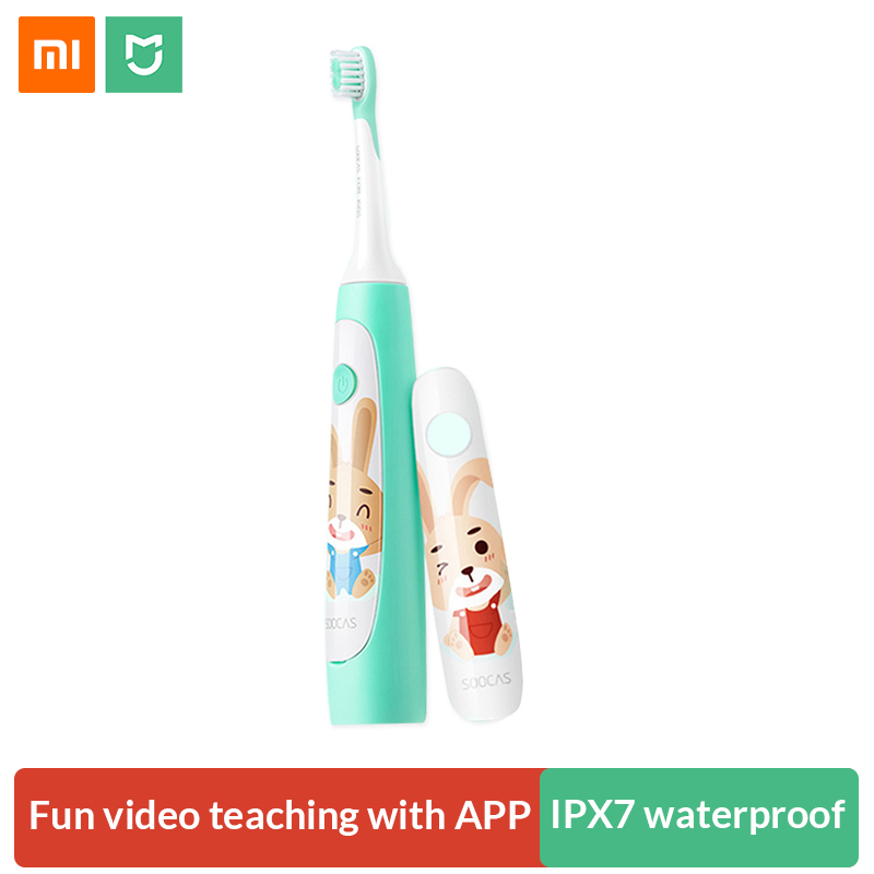 Xiaomi Soocas Sonic Elektrische Zahnbürste für Kinder Wasserdicht Niedlichen Cartoon Kinder Elektrische Zahnbürste Wiederaufladbare Dental Care