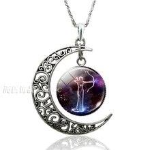 12 знаков зодиака Созвездия стеклянный купол полумесяц ожерелье