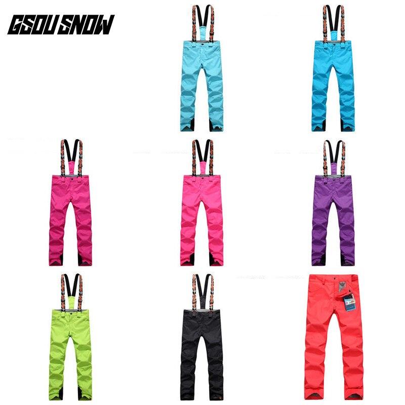 GSOU SNOW Double simple planche pantalon de Ski pour femme hiver extérieur imperméable chaud épaissi coupe-vent respirant pantalon de Ski - 2
