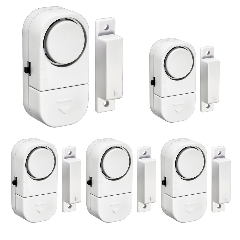 5PCS Magnetic Sensors Independent Entry Door Alert Wireless Door Window Sensor 90dB Alarm Warning Home Security Alarm System (China)