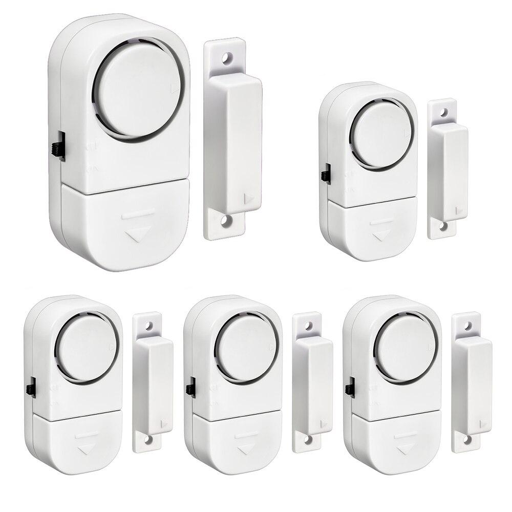 5PCS Entry Door Alert Wireless Door and Window Sensor 90dB Alarm warning Home Security A ...