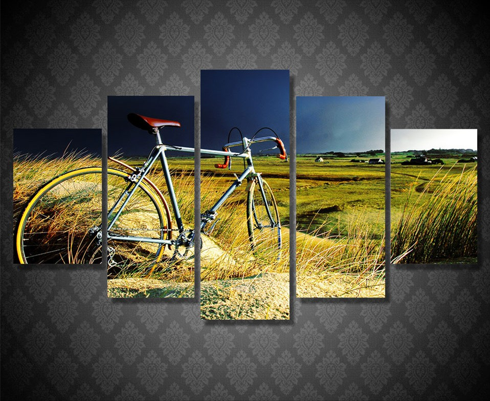 Online buy wholesale vintage bicycle art from china for 70 bike decoration