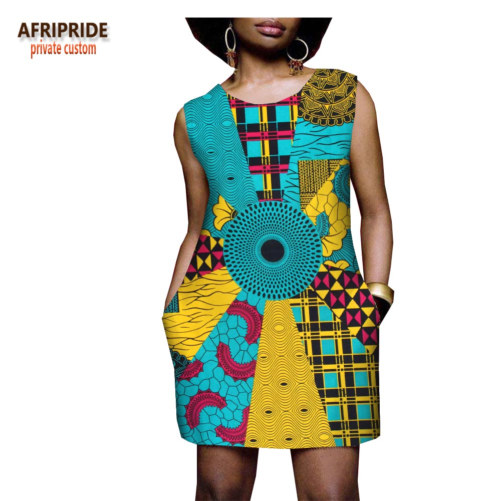 Afrcian style dresses for women new batik fabrics robe africaine bazin riche women african clothing maxi dress for lady A722522