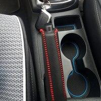 Кожаный салон автомобиля аксессуары рукоятки ручного тормоза Обложка для Kia K2 2011 2012 2013 2014 2015 2016 Авто ручка ручного тормоза