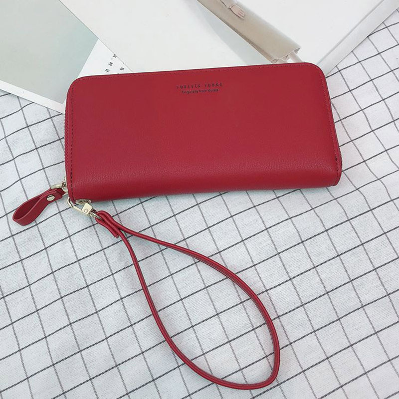 2018 Hot Sale Women Wallet Women Purse Female Long Zipper Strap Ladies Money Phone Bag Id Card Holders Coin Purse Bolsas Clutch 2017 purse wallet big capacity female famous brand card holders cellphone pocket gifts for women money bag clutch passport bags