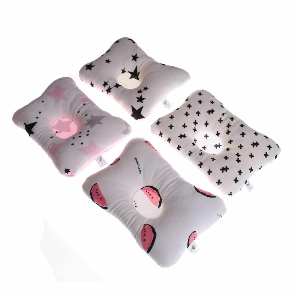 Prevenir cabeza plana bebé almohada niño bebé Infante recién nacido dormir posicionador almohada de apoyo transpirable Anti rollo ropa de cama