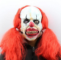 Halloween Mask Scary Clown Makeup Mask Products Clown Show Headgear Accessories Clown Mask Funny Wig Payaso