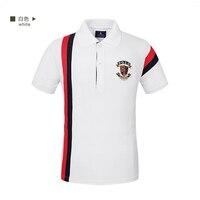 2017 Men Polo Shirt Summer Short Sleeve Turn Down Collar Polos Brand Clothing Striped Polo Homme