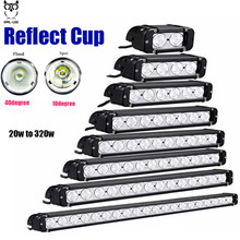 OWL-LED  20w 120w 180w 240w 300w  Led Chip Work Light Bar  Spot / Flood Offroad Boat Led Lamp UTE SUV ATV Truck Driving led bar
