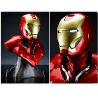 1/1 масштаб Железный человек Sideshow MK3 Тони Strak (в натуральную величину) 1:1 большая статуя Смола Бюст со светодиодной глаз H 55 см
