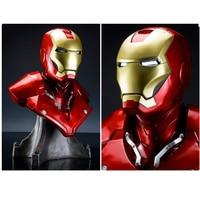 1/1 Scale Iron Man Sideshow MK3 Tony Strak (LIFE SIZE) 1:1 BIG Statue Resin BUST With Led Eye H 55cm