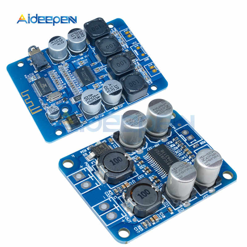 TPA3118 2X30W 60W Stereo Audio Bluetooth Mono Digital Audio Amplifier Papan 4-8 Ohm 12V 24V untuk Arduino DIY Mainan 12V 24V