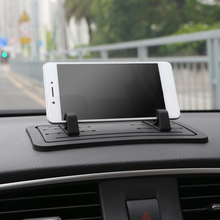 Car Ornament Anti-slip DIY Adjustable Distance Mobile phone Sillcone Holder Decoration Non-slip Pad Dashboard For GPS Cell phone