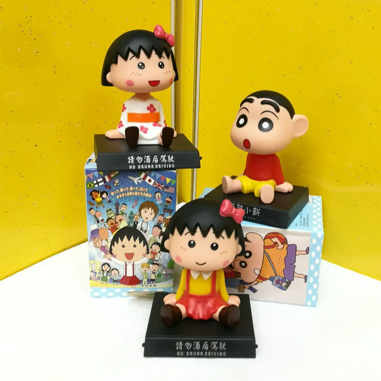 Crayon Shin-Chan 1/10 scale painted figure Chi-bi Maruko & Ultrman Bobble Head PVC Action Figure Collectible Model Toy11cmKT3080 funko pop marvel deadpool 20 bobble head pvc action figure collectible model toy 4 10cm kt2203