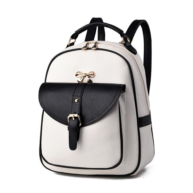 ФОТО Famous Brand Backpack Women Backpacks Solid Vintage Girls School Bags for Girls Kids Black PU Leather Women Bag Casual Back pack