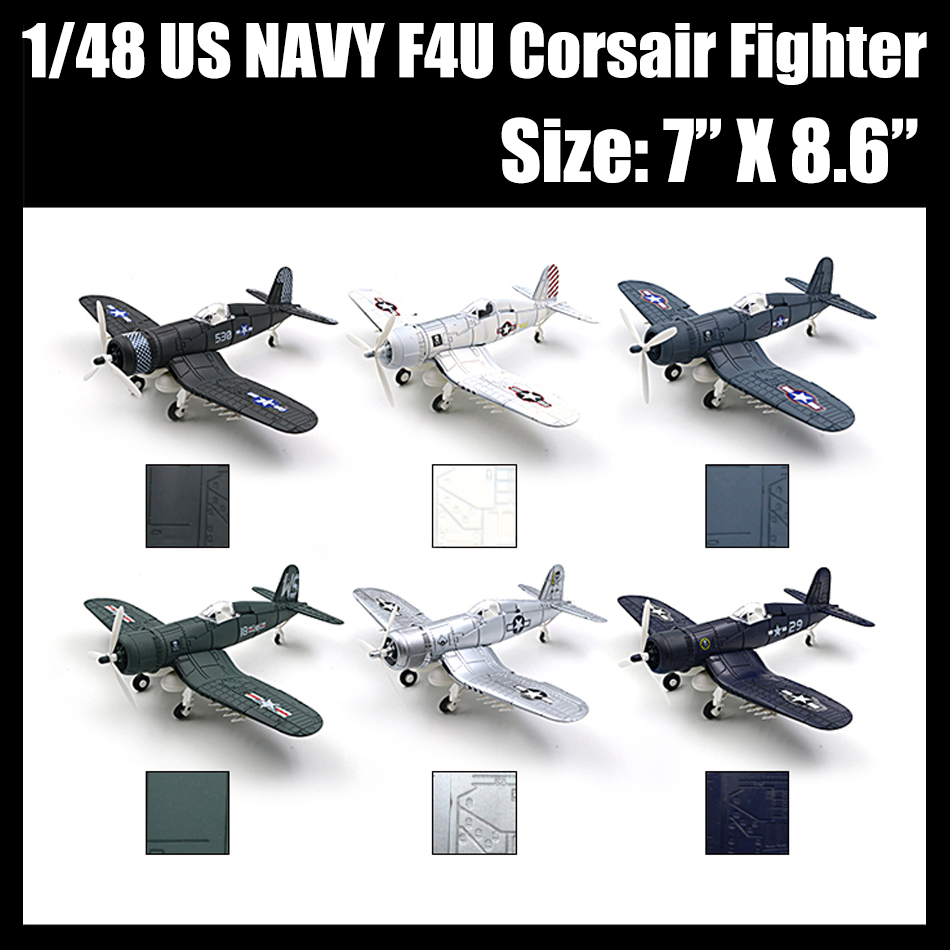 6 style 4D Military Aircraft Model brinquedos assembly 1/48 Christmas gift playmobile brinquedos toys for children boys