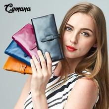 Brand Genuine Leather Women Wallet 2019 Oil Leather Wallet Long Purse Cowhide multiple Cards Holder Clutch bag Standard Wallet цена
