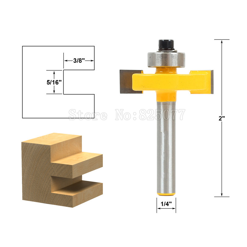 Купить с кэшбэком 1Pcs 1/4'' Shank Matched Tongue & Groove Router Bit High-Grade Ball T-knife Home Wood Woodworking Tools JF1481