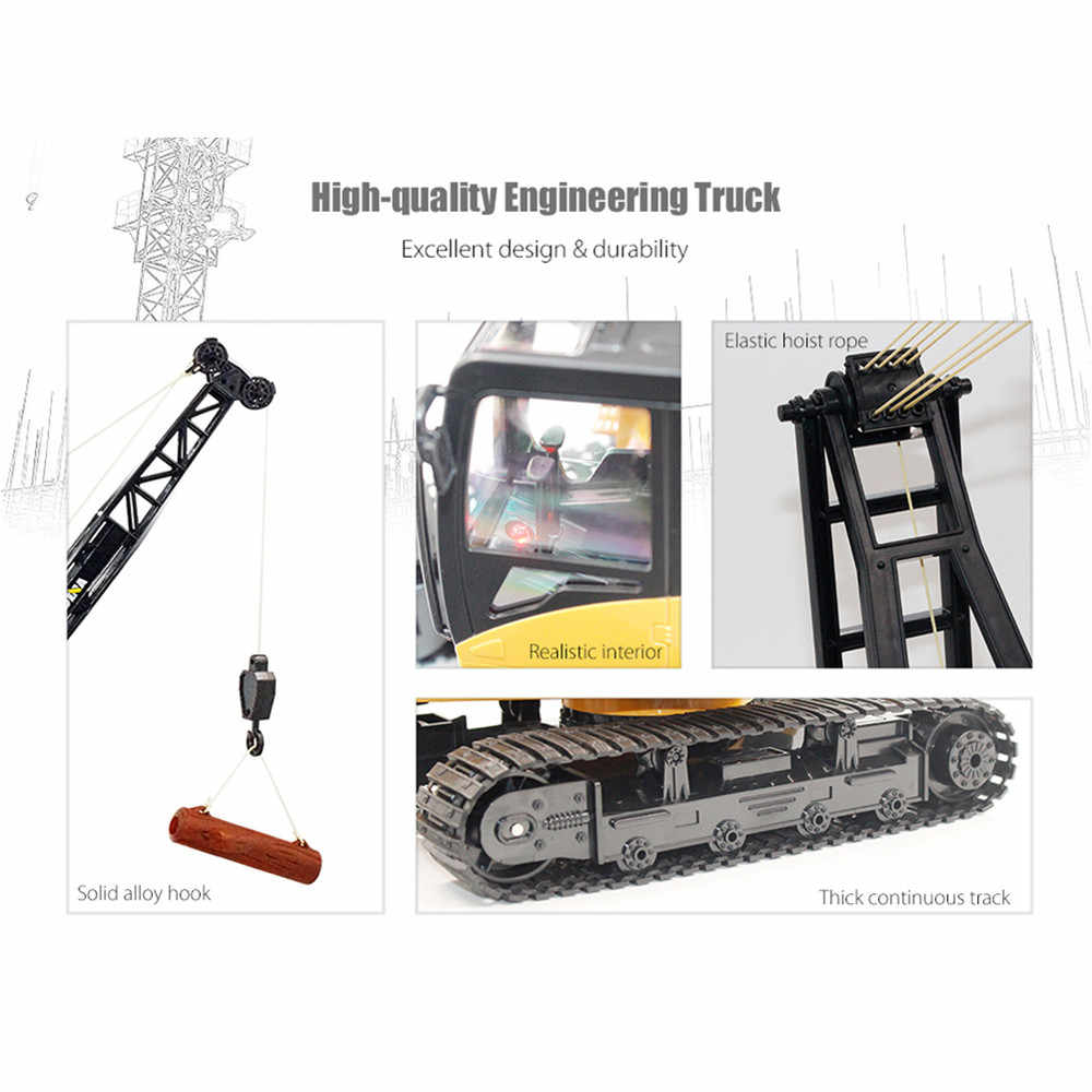 Глобальный Дрон Игрушки для мальчиков контроль Радиоуправляемый кран грузовик экскаватор Развивающие игрушки для детей игрушка-кран Рождественский подарок на день рождения