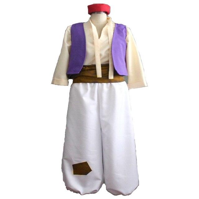 f08141227 € 29.54 15% de DESCUENTO Anime Aladino y la lámpara mágica disfraz de  Cosplay disfraz de Halloween para Hombre Trajes de Aladino conjunto  completo ...