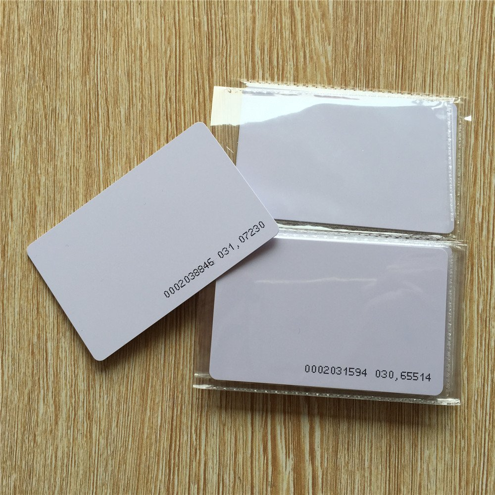 125khz em4100 door entry access blank white proximity rfid clamshell thick card thickness 1 9mm pack of 10 OBO HANDS RFID 125KHz TK4100 Proximity Door Control Entry Access EM card-0.9mm (pack of 100)