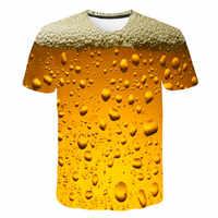Bier 3D Print T Shirt Es der Zeit Brief Frauen Männer Lustige Neuheit T-shirt Kurzarm Tops Unisex Outfit Kleidung