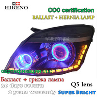 Hireno Modified Headlamp For Great Wall Haval H3 2005 2008 Headlight Assembly Car Styling Angel Lens