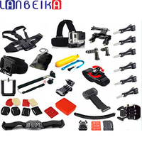 LANBEIKA For Gopro Accessories Set Helmet Harness Chest Belt Head Mount Strap Monopod GoPro Hero 5