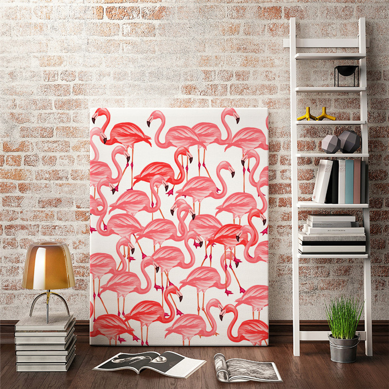2017 New Flamingo Pink Painted Paintings Moylor Hanging Paintings ...