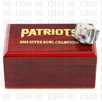 Year 2003 New England Patriots Super Bowl Championship Ring 10 13Size TOM BRADY Fans Gift With