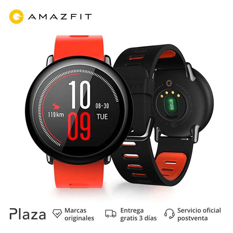 Xiaomi Amazfit A1612B темп gps умные часы для бега сердечного ритма обнаружения устройства Смарт часы браслет Xiaomi Amazfit Спорт