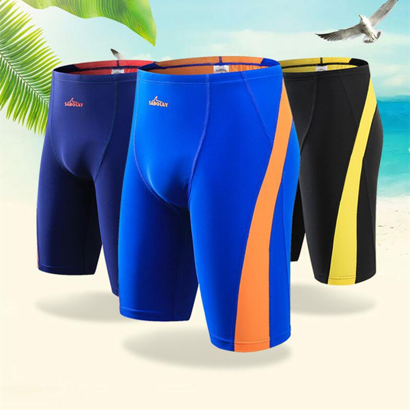 SABOLAY Mens swimming trunks New Quick dry Patchwork Flat angle Surfing pants Swim Trunks short swimwear pants plus size 5XL