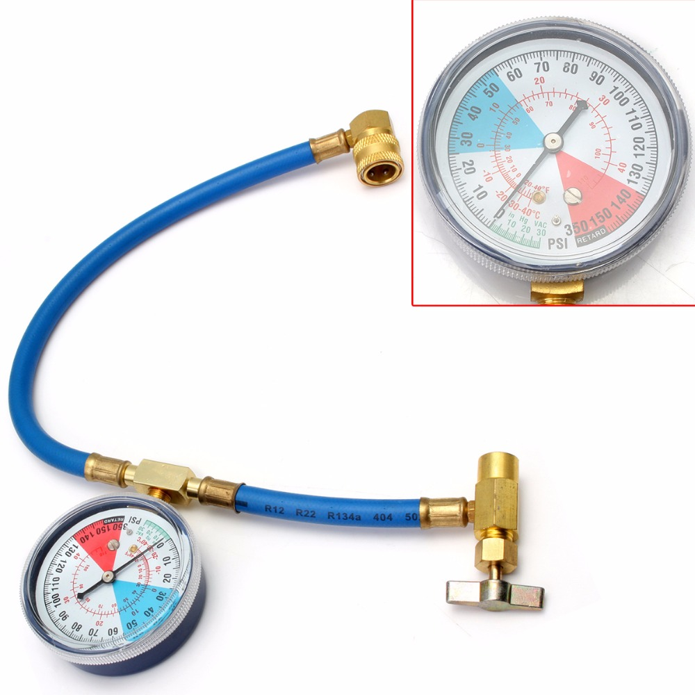 R134a Recharge Measuring Hose Gauge Adapter A/C Refrigerant Charging Pipe rovan baja cnc gear box assembly gear component differential general hpi