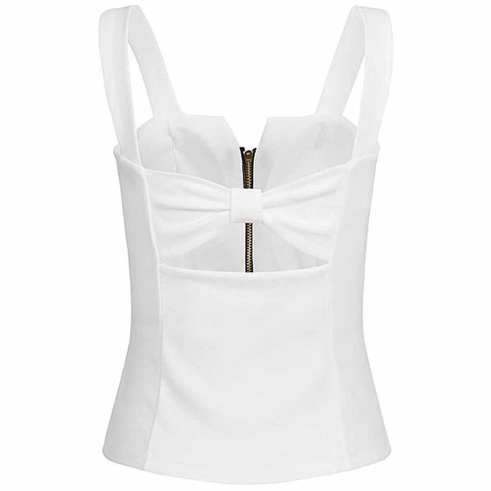 Sexy réservoirs Crop hauts zip été femmes mode sans manches Camisole débardeur fermeture éclair haut T-shirt grande taille s-xl Femme Club style