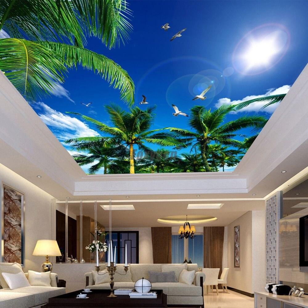 Digitale Gedrukt En Uv Afdrukken Valse Plafond Blauw Sky Ontwerpen Interieur Plafond Decoratie Ceiling Decoration Ceiling Decor Designceiling Blue Aliexpress