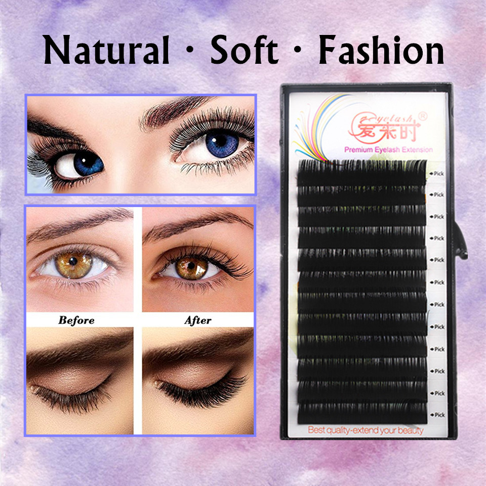 NEWCOME 4 Trays Individual 3D Eyelash Extension 8mm to 15mm BCD Curl All Size Cilia Lashes Volume Long Eyelash Extensions