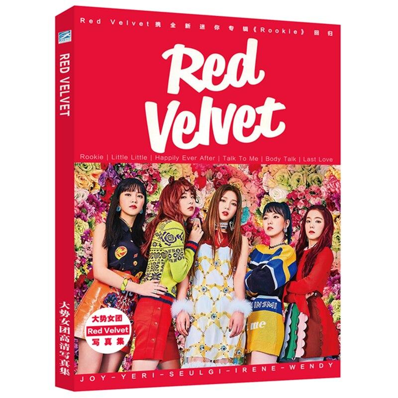 [MYKPOP] ensemble cadeau de luxe en velours rouge CD + carte Photo + affiche + signets + carte cristal, Collection Fans KPOP SA19070505