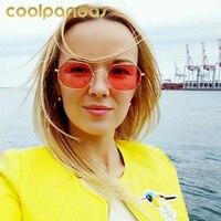 COOLPANDAS Fashion Women Men Brand Designer Tinted SunGlasses Hexagon Sun Glasses For Lady Sunglass Female UV400