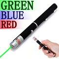 Alta Calidad Potente Verde/Rojo/Azul Lápiz Puntero Láser de Haz de Luz 5 mW Caneta Laser