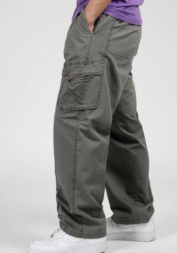 Мужские брюки-карго размера плюс XL 2XL 3XL 4XL 5XL 6XL, весенние мужские свободные брюки в стиле хип-хоп - Цвет: army green
