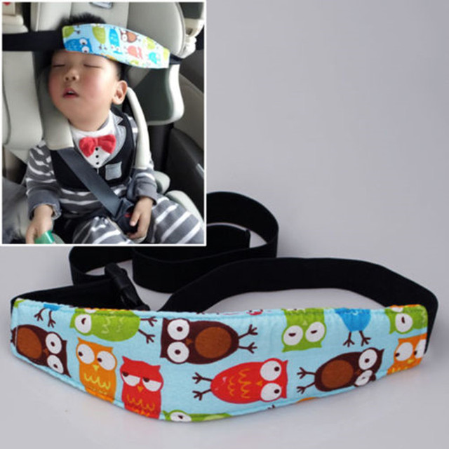 Practical Safety Car Seat Sleep Nap Aid Kids Head Support Holder Belt Owl Band
