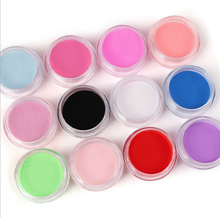 12 Colors Acrylic Powder Manicure Tips