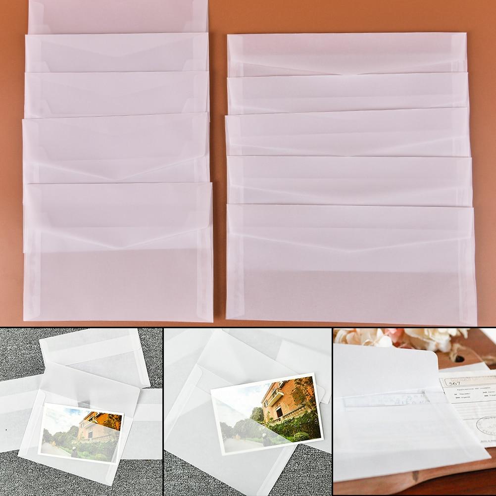 5pcs/pack Paper Translucent Envelope Message Card Letter Storage Gift Stationary