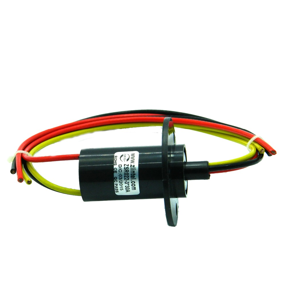 ZSR022-3R30A 3 Channel 30A Large Current Rotating Connector Slip Ring for High Speed Ball Conductive Slip Rings slip-ring wind power slip ring 2 way 3 road 4 road 5 road 6 road 30a rotating table slip ring slip ring carbon brush