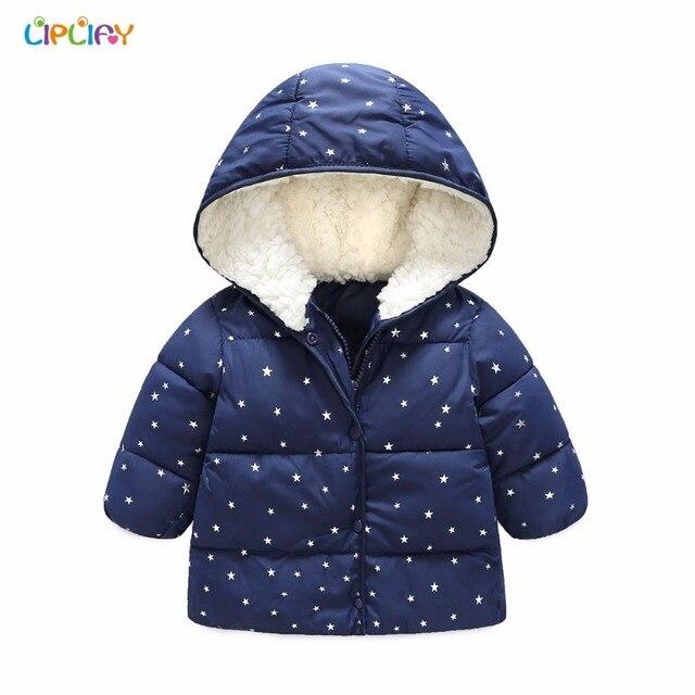 5dbfada790f85 2018 Baby Girl Coat Children Winter Outwear Hooded Jacket Cute Star Print  Fashion Baby Warm Clothes Kids Girl Hoodies Clothing
