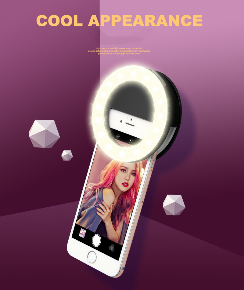 TOKOHANSUN Usb Charging Selfie Ring Led Phone Light Lamp Mobile Phone Lens LED Sefie Lamp Ring Flash Lenses for Iphone Samsung-in Mobile Phone Lenses from Cellphones & Telecommunications on Aliexpress.com | Alibaba Group 1