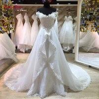 Taoo Zor Fashion Lace Mermaid Wedding Dress 2017 Detachable Train Vestido De Casamento Backless Vintage Boat Neck Wedding Gowns