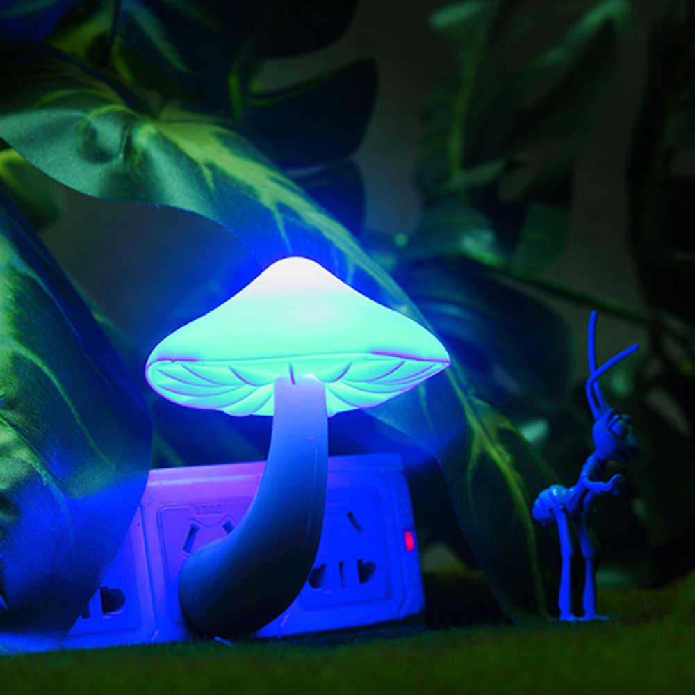 Çocuk Aydınlık Oyuncaklar Mantar Duvar Soket Lamba LED Sensörü Gece Lambası yatak odası aydınlatması Dekor ABD Plug Çocuk Ev Dekorasyonu